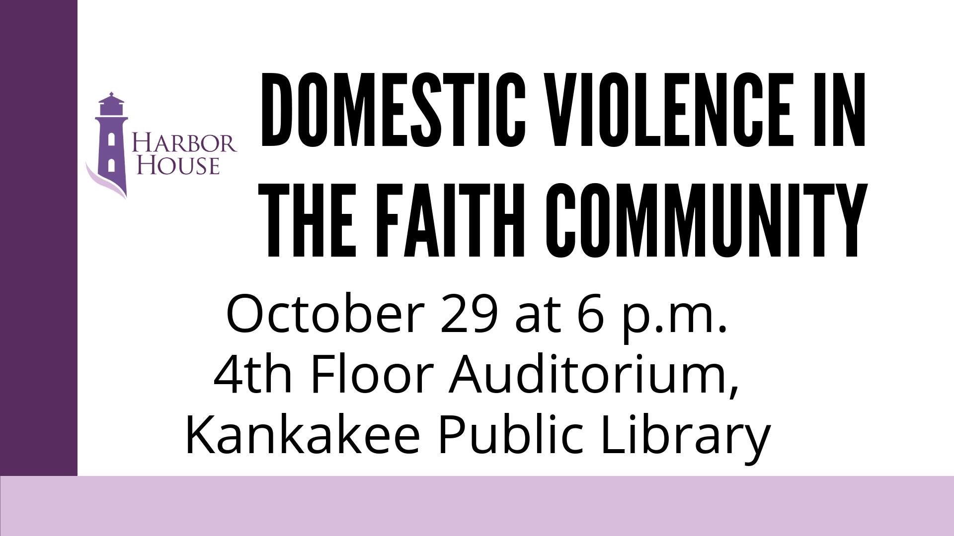 Harbor House Presents- Domestic Violence in the Faith Community